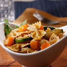 Farfalle with Zucchini, Butternut Squash and Pecorino Cheese *use whole grain organic pasta