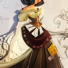 One more wip before show the full character #ryanwriller #art #artist #paperart #paperartist #cutpaper #snowwhite #myart #fantasy #details #costumedesign #wip