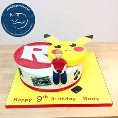Gaming Pokemon cake, made by The Foxy Cake Co!