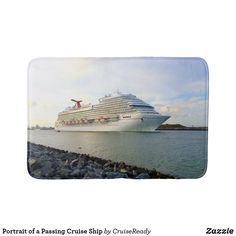 Shop Portrait of a Passing Cruise Ship Bath Mat created by CruiseReady. Feeling Great, How Are You Feeling, Nautical Bath, Bath Decor, Bath Mat, Cruise, Ship, Feelings, Portrait