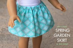 sew a simple skirt for your 18 inch doll! Tutorial on our blog, Doll Delight!
