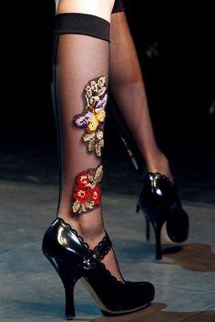 Embroidered socks, Dolce & Gabbana AW12