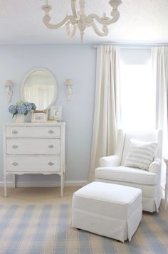 Home Decoration Ideas For Function Classic Baby Boy Nursery.Home Decoration Ideas For Function Classic Baby Boy Nursery Baby Blue Paint, Baby Blue Nursery, White Nursery, Baby Bedroom, Baby Boy Rooms, Nursery Neutral, Baby Room Decor, Baby Boy Nurseries, Baby Boys