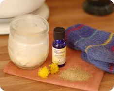 Camomile Compress for Pink Eye and Eucalyptus Salve for Stuffy Nose and Colds.