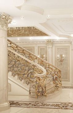 Ideas Stairs Design Interior Grand Staircase Stairways For 2019 Mansion Interior, Interior Stairs, Luxury Homes Interior, Luxury Home Decor, Home Interior Design, Luxury Staircase, Grand Staircase, Staircase Design, Staircase Ideas