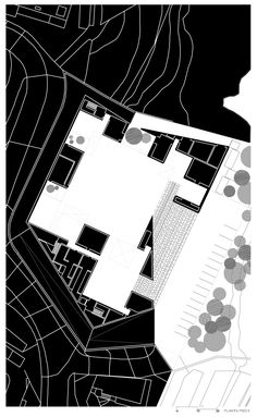 Gallery of Santo Tirso Call Center / Aires Mateus - 25 Paper Architecture, Architecture Drawings, Architecture Plan, Plan Sketch, Plan Drawing, Architectural Section, Black Paper, Wedding Humor, Photo Wall
