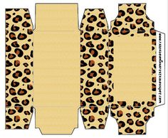 Leopard - Full Kit with frames for invitations, labels for snacks, souvenirs and pictures! Jungle Party, Safari Party, Animal Print Party, Animal Print Rug, Diy Gift Box, Gift Tags, Printable Box, Printables, Leopard Party