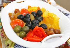 "Cyprus Gastronomy. Traditional ""glyko tou koutaliou"" (preserved fruits in syrup)."