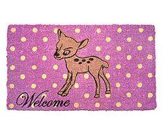 Zerbino rettangolare in fibra di cocco Bambi - 44x74x3 cm Bambi, Kids Rugs, Fantasy, Ebay, Gifts, Home Decor, Products, Lilac, Textiles