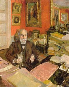 Théodore Duret dans son étude  Edouard  Vuillard, 1912  Huile sur carton National Gallery of Art, Chester Dale Collection Washington