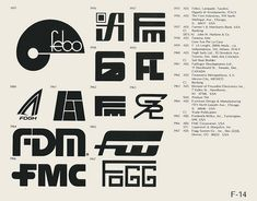 Eric Carl Collection of vintage logos from a edition of the book World of Logotypes jpg Logos Typography Logo, Art Logo, Logo Branding, Branding Design, Lettering, Trademark Symbol, Logo Luxury, Brand Symbols, Vintage Graphic Design