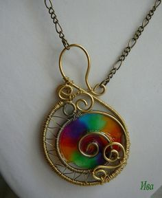 One of rainbow pendants