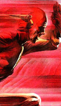 The Flash - Alex Ross Is he gonna make it in time? Probably. He's faster than the speed of light. Nbd