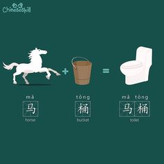"In Chinese a Toilet is also known as a ""Horse Bucket."""
