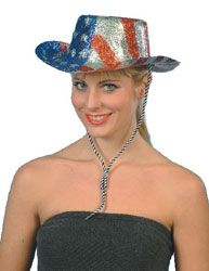 Glitter Cowboy Hat USA Star's n Stripe's. Have fun wearing this at any USA event such as a picnic, barbecue or themed party http://www.novelties-direct.co.uk/glitter-cowboy-hat-usa-stars-n-strips-12.html