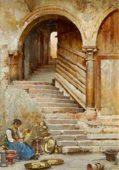 A Courtyard in Verona, William Logsdail