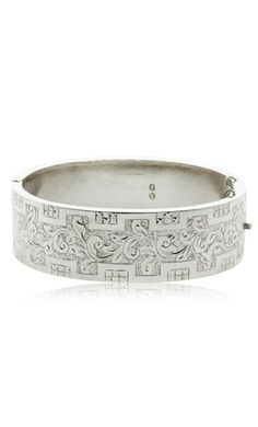 Vintage sterling silver engraved bangle