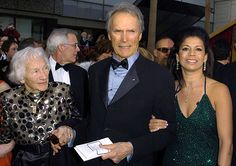 Clint with his mother, and wife Dina at The Annual Academy Awards- Feb. Clint Eastwood Pictures, Clint And Scott Eastwood, Actor Clint Eastwood, Hollywood Icons, Hollywood Stars, Classic Hollywood, Celebs, Celebrities, California Wedding