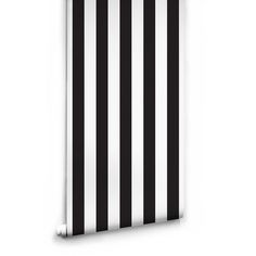 Sample Black & White Stripe Wallpaper by Ingrid + Mika for Milton &... (13 CAD) ❤ liked on Polyvore featuring home, home decor, wallpaper, backgrounds, borders, picture frame, wallpaper samples, border wallpaper, white stripes wallpaper and black home decor