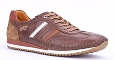 Pikolinos mens shoes M2A-6019 Lancaster. Lace Up Leather Upper. Colour: Brown.
