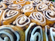 Blueberry Cinnamon Rolls. Holy. Buckets. I need to get blueberries ASAP.