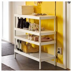 Shoe Rack Designs MACKAPÄR Schuhregal - weiß - IKEA Baking is the cooking of food by dry heat in a c Best Shoe Rack, Diy Shoe Rack, Shoe Storage, Diy Storage, Shoe Racks, Shoe Rack Ikea, Garage Shoe Rack, Rustic Shoe Rack, Storage Ideas