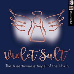 A rebrand for Violet Salt - the Assertiveness Angel of the North! By Fi From Fi&Becs Design ( Angel Of The North, Assertiveness, Our Love, Salt, Branding, Neon Signs, Photo And Video, Marketing, Videos