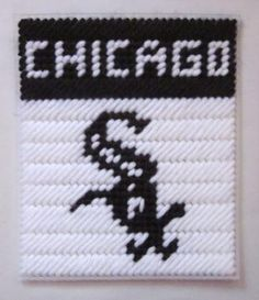 Chicago White Sox tissue box cover in plastic canvas PATTERN ONLY by AuntCC for $2.50