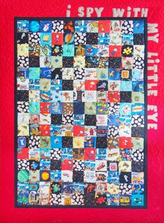 "Parties and Patterns: Kid's Quilt Pattern ""I Spy With My Little Eye"""