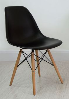 Black Eames Style Dining Chair from Danetti.