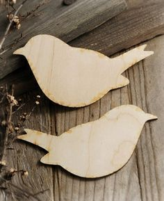 """Wood Love Birds 6"""" Set of Two"""