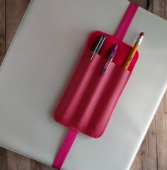 Triple Pen Holder Bookmark Planner Band by ShopOrangeBlossoms