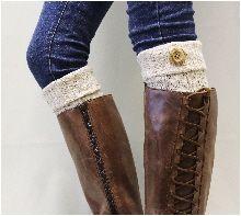 BC1 ASPEN  Boot Cuffs NATURAL FLECKS Boot Toppers- boot cuffs-knit boot cuff- boot cuff- boot topper- boot toppers