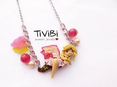 Fairy necklace. One of a kind jewelry piece by TiViBi on Etsy