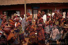 Bamenda traditional festivals procession in Bali Nyonga near Bamenda Cameroon West Africa