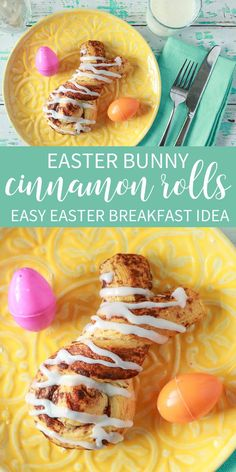 Cinnabunnies are easy Easter Bunny Cinnamon Rolls that make the perfect, easy menu item for Easter breakfast. Using store bought dough with a twist! Easter Breakfast Recipes, Easy Easter Recipes, Easter Ideas, Easter Crafts, Breakfast Ideas, Easter Dinner, Easter Brunch, Easter Food, Cinnamon Twists