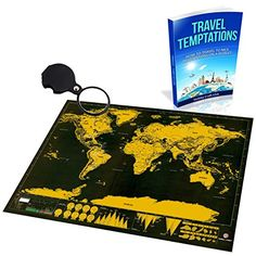 Scratch Off Map World Deluxe - Personalized Travel Poster - Share Your Travel Stories