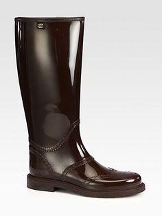 Gucci - Aberdeen Rain Boots - Saks.com