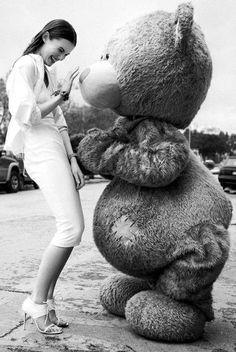 My Teddy Bear Friend--this is freaky shit Giant Teddy Bear, Cute Teddy Bears, Costco Bear, Ted Bear, Disney Cats, Daddy Bear, Bear Hugs, After Life, Tatty Teddy