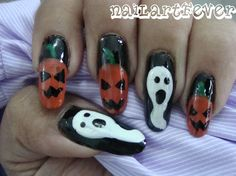 Halloween nails ! - Nail Art Gallery by NAILS Magazine