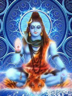 "Shiva is known as ""The Destroyer"" inside the Trimurti, the Hindu trinity that incorporates Brahma and Vishnu Shiva Linga, Shiva Shakti, Shiva Parvati Images, Meditation France, Yoga Meditation, Lord Shiva Hd Images, Lord Shiva Family, Shiva Statue, Shiva Wallpaper"