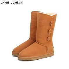 INOE Classic sheepskin leather wool fur lined women winter ankle ... 150606d06b0f