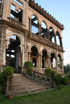 The Ruins of the Mariano Ledesma Lacson Mansion, Talisay City, Philippines