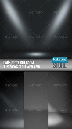 Dark Spotlight Room