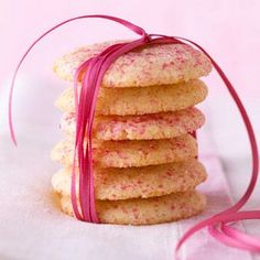 These butter cookies bake longer and at a lower temperature than most cookies. To keep them tender, don't let them brown./