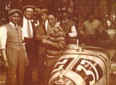 Enzo Ferrari and Tazio Nuvolari, Bologna 1927.