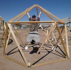 how to make dome using wood