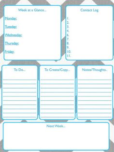"""Teacher weekly """"TO DO"""" list. FREE!! 5 different colors of text with a chevron background you can choose from."""