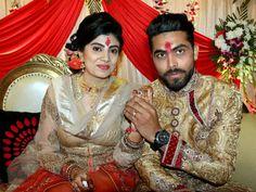 Pics: Ravindra Jadeja engaged to mechanical engineer: Ravindra Jadeja got engaged to Rajkot-based mechanical engineer Reeva Solanki in New Delhi Wedding News, Wedding Photos, Ravindra Jadeja, India Cricket Team, Wedding Consultant, Wedding Makeup Artist, Bridal Blouse Designs, Cricket News, Beautiful Wife