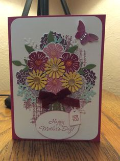 Stampin Up Beautiful Bouquet Mother's Day Card